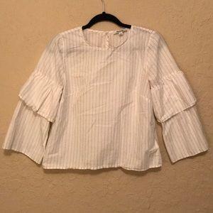 Madewell long sleeve white top